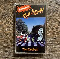 Ren & Stimpy Cassette You Eediot! Soundtrack Audio Tape LT-57400 RARE Vtg 90's