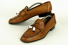 COLE HAAN * ITALY * HAND-SEWN TASSEL LOAFER IN BROWN  * SZ: 12 M * SUPERB