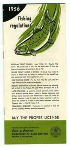 1956 Colorado Fishing Seasons and Regulations Booklet Department Fish and Game