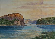 Hans PFAFF; Fjord paesaggio-Lorelei, Acquerello