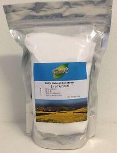 Erythritol 1kg - 100% Natural Sweetener - Zero Calories & Zero GI