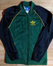 Adidas Originals Mens Tracksuit Top Jacket Green Black Classic Jumper Hype