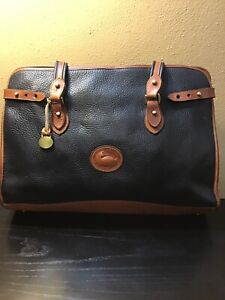 Vintage AWL Dooney & Bourke Black And Brown XL Shoulder Bag