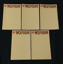 Marvel Wolverine #300 * Blank Variant Sketch Cover * Lot of Five (5) Comics NM