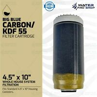 """Big Blue Filter Cartridge, KDF 55 Well Whole House System Filtration 4.5"""" x 10"""""""