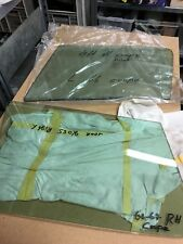 Corvette C2 Coupe 63-67 Door glass set LH and RH  Green Tinted