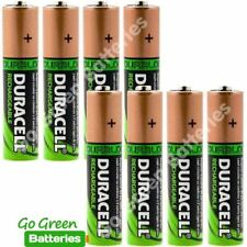 8 x Duracell AA 2450 mAh Rechargeable Batteries NiMH HR6 phone