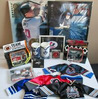 Variety of NHL TEAM COLLECTABLES + 2 bonus 8x10 CHIPPER JONES CARDS only $14.95
