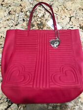 Betsy Johnson Red BM19890 Hearts Large Tote - NWT