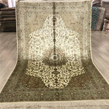 YILONG 4'x6' Great Silk Hand Knotted Carpets Oriental Hand made Area Rugs 049B
