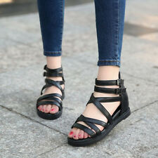 New Fashion Summer Women Open-toed Sandals Chunky Heel Strappy Platform Shoes