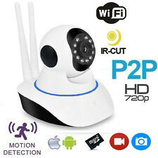 TELECAMERA IP CAM CAMERA HD 720P WIRELESS LED IR LAN MOTORIZZATA WIFI RETE P2P