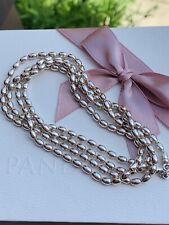 Genuine Pandora Rice Chain Necklace - Rare 80cm
