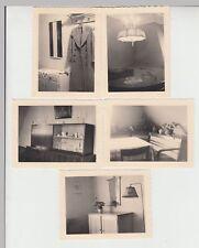 (F18709) 5x Orig. Foto Wohnungseinrichtung, Stuttgart Paradiesstraße 21, 1935