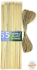 55Pcs 16inch Bamboo Garden Stakes Plant Sticks Support Wooden