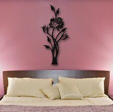 Wall Stickers Vinyl Decal Rose Flower Plant Decor for Bedroom (ig672)