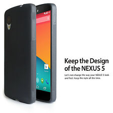 2-Pack Matte Back Black Soft Flexible TPU Case for LG Nexus 5 - Ultra Thin 2014