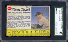 1962 Canadian Post Cereal #5 Mickey Mantle SGC 40 White Back SP Variation