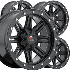 """4) 14"""" RIMS WHEELS for 2007-2014 Yamaha Grizzly 700 4x4 IRS Vision Type 550 ATV"""