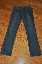Womens CACHE' JEANS Dark Blue with Diamonds On Back Size 2~WOW~