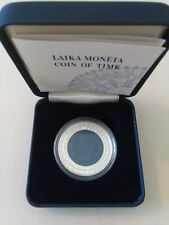 !!RARE!! TIME I first NIOBUIM silver coin of LATVIA 1 Lats 2004 BOX COA Lettland