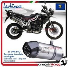 Leovince LV One EVO steel exhaust Triumph TIGER 800 XC/XCA/XCX/XR/XRX 2011>2016