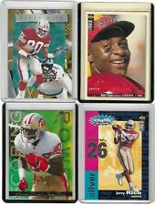 JERRY RICE CARD LOT OF 4 NFL SAN FRANCISCO 49ERS #4-4