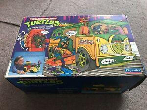 Teenage Mutant Ninja Turtles Party Wagon Vintage Playmates 1989 + ORIGINAL BOX