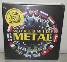 5 CD + DVD GAME PC - WORLDWIDE METAL - NUOVO NEW