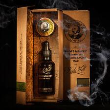 Captain Fawcett's Ricki Hall Booze & Baccy Beard Oil & Moustache Wax Gift Set