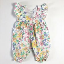 Vintage Baby Togs Romper Spring Floral Flowers One Piece Snaps 12 Months