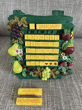 Fruit Perpetual Calendar Gift Present Home Decor