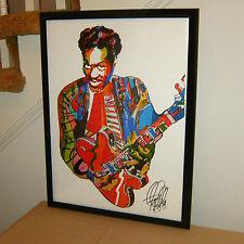 Chuck Berry, Singer, Lead Guitar Player, Rock & Roll Guitaris, POSTER w/COA