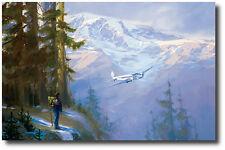 Rainier Encounter (Artist Proof) by Jack Fellows - Boeing Model 247 Aviation Art