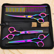 Pet Dog Cat Grooming Scissors Shears Set Kit Moring Cut Straight Curved Thinning