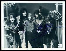 KISS Paul Stanley + Gene Simmons Signed Autograph 7x9.5 PHOTO + Cheryl Tiegs COA