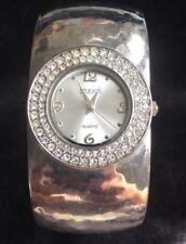 Vintage Studio Women's Bangle Bracelet Wristwatch Rhinestone
