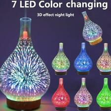 3D Firework Glass Essential Oil Aroma Diffuser LED Ultrasonic Humidifier 7 Color