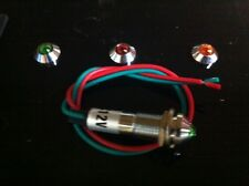 LED DASH LIGHT,STREET ROD,HOT ROD,CUSTOM DASH BULB,LOT OF 5,INDICATOR,TURN