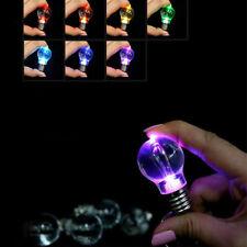 Colorful LED Flashing Light Mini Bulb Crystal Key Ring Lamp Key Chain Xmas Gift
