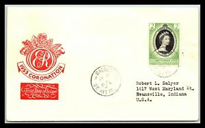 GP GOLDPATH: ST. CHRISTOPHER NEVIS ANGUILLA COVER 1953 F.D.C. _CV746_P05