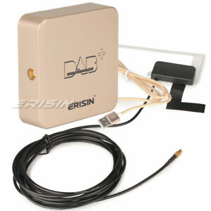 Erisin DAB+ BOX Digital Aerial MCX Amplified Antenna for Android 9/10 Car Stereo