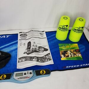 Speed Stacks Game Stacking Cups Mat Timer Training DVD Instructions Manual Case