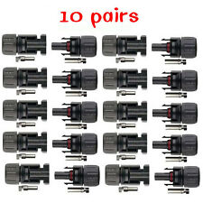 10 Pairs MC4 30A Male Female M/F Wire Connector Set Solar Panel PV Cable adapter