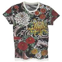 WORK Floral Flower Irezumi Japanese Art Yakuza Vintage #WK158 Men T-Shirt M L XL