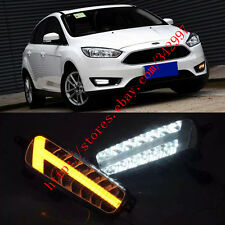 Exact Fit Switchback LED DRL Fog Lights w/ Turn Signals For Ford Focus 2015-2017