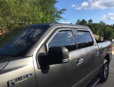 MATTE BLACK Window Vent Visors (2015- 2019 F150 CREW CAB) Rain Guards Deflectors