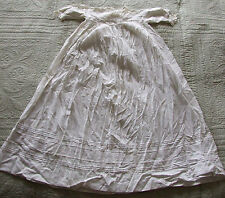 ANTIQUE VICTORIAN COTTON LACE BABY'S DRESS CHRISTENING GOWN