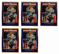 (5) 1992 Sports Cards #74 Luc Robitaille Hockey Card Lot Los Angeles Kings
