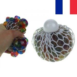 Boule Anti Stress Balle Gluante Gluant en Gelée dans une Maille Squishy Mesh